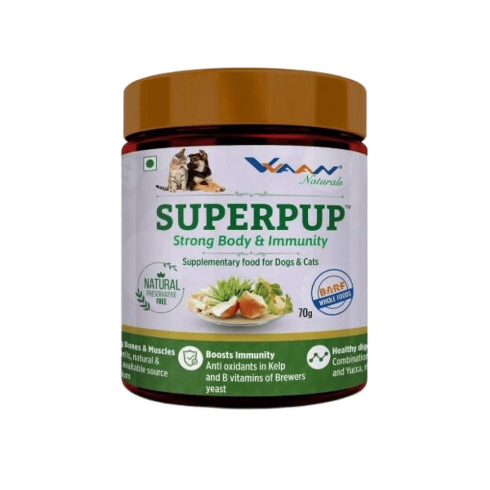 Vvaan Supplements for Cats & Dogs - Superpup Body & Immunity (70g)