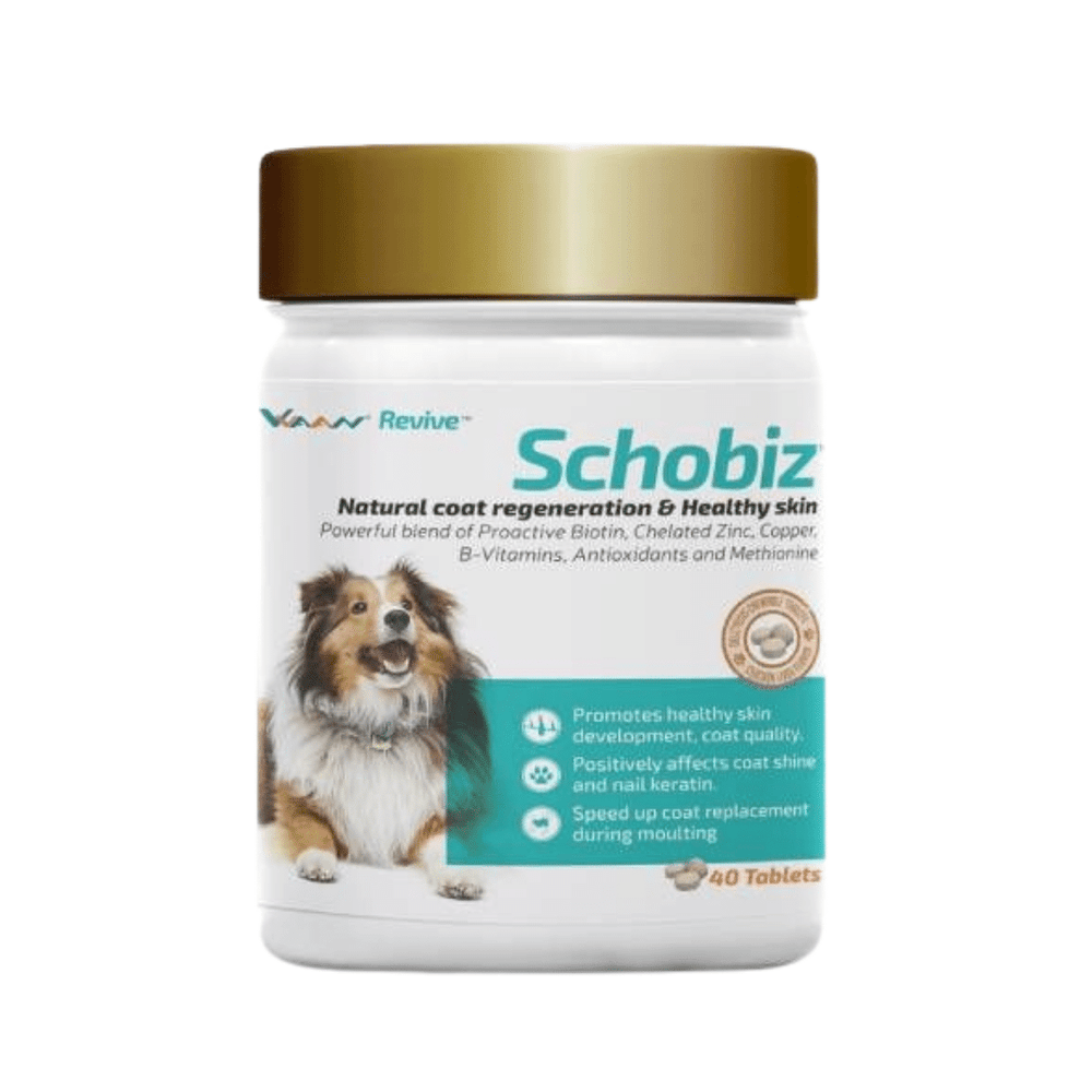 Vvaan Supplements for Dogs - Schobiz Biotin Supplement (40 tabs)