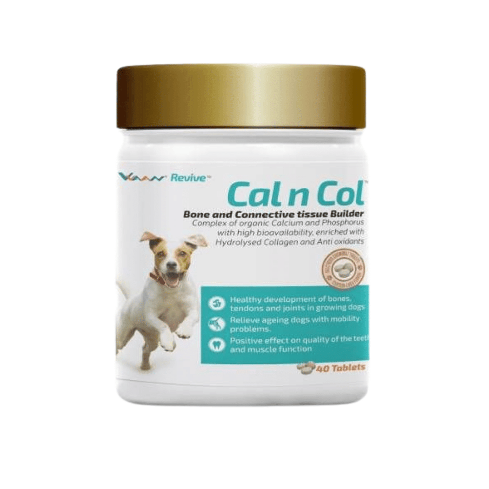 Vvaan Supplements for Dogs - Cal and Col - Calcium and Collagen Tablets (40 tabs)