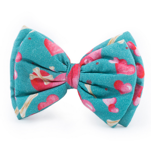 Stars and Snowflakes Digital Print Cotton Bow Tie - Love Petsy (Exclusive to Petsy)