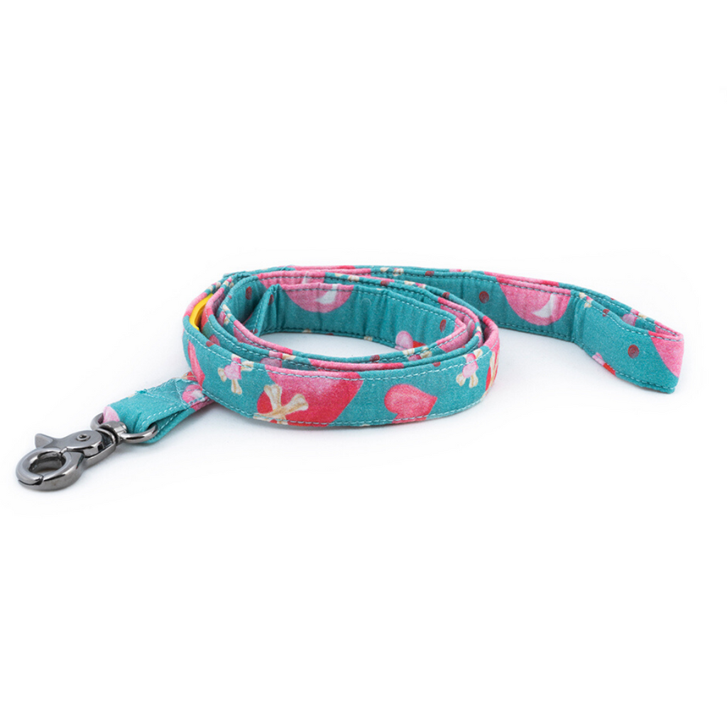 Stars and Snowflakes Digital Print Cotton Leash - Love Petsy (Exclusive to Petsy)