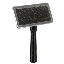 Trixie Dog Slicker Brush with Brush Cleaner