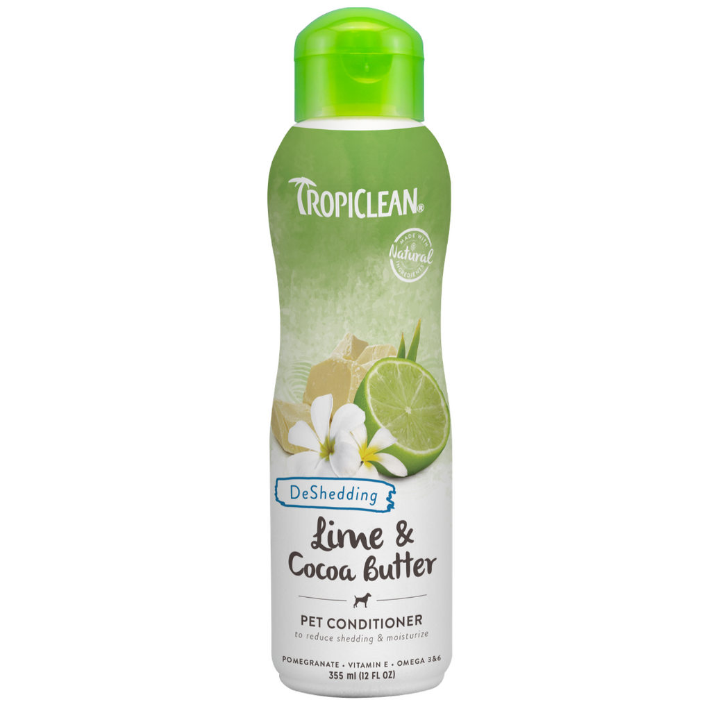 Tropiclean Lime & Cocoa Butter Pet Conditioner, Deshedding - 355ml
