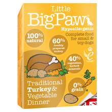 Little BigPaw Traditional Turkey & Vegetable Dinner for Dogs (7 pack) - 150g