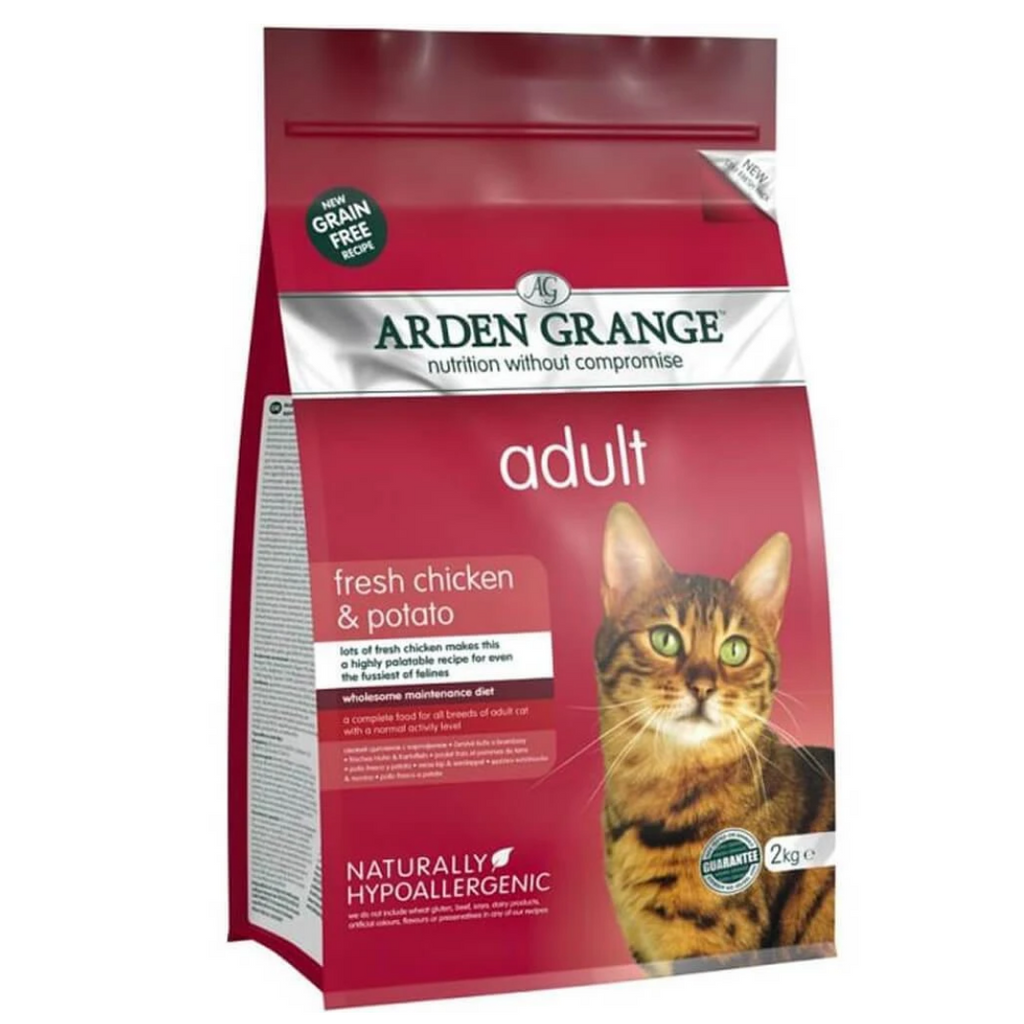 Arden Grange Grain Free Food for Adult Cats - Fresh Chicken & Potato