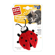 GiGwi Cat Toys - Ladybird'Melody Chaser' w/motion activated sound chip