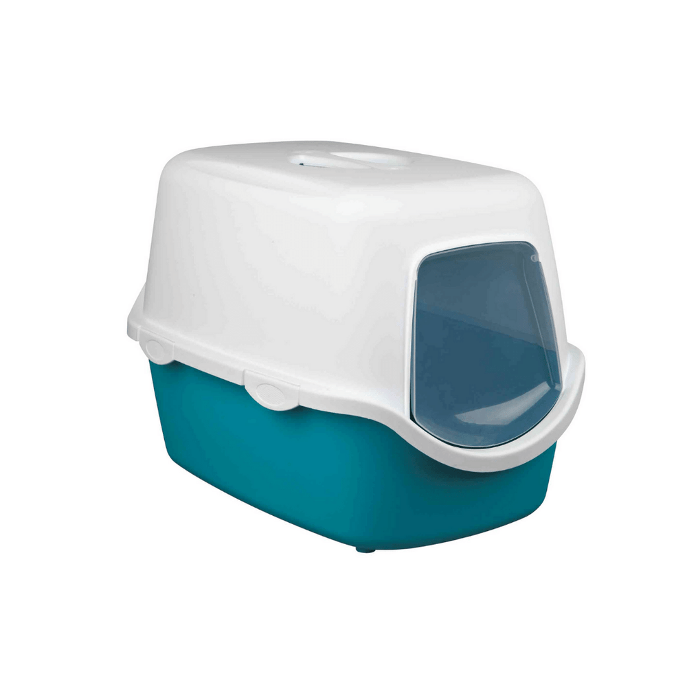 Trixie Vico Cat Litter Tray with Dome - Turquoise
