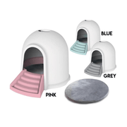 M-Pets Igloo Cat Litter Box 2-in-1