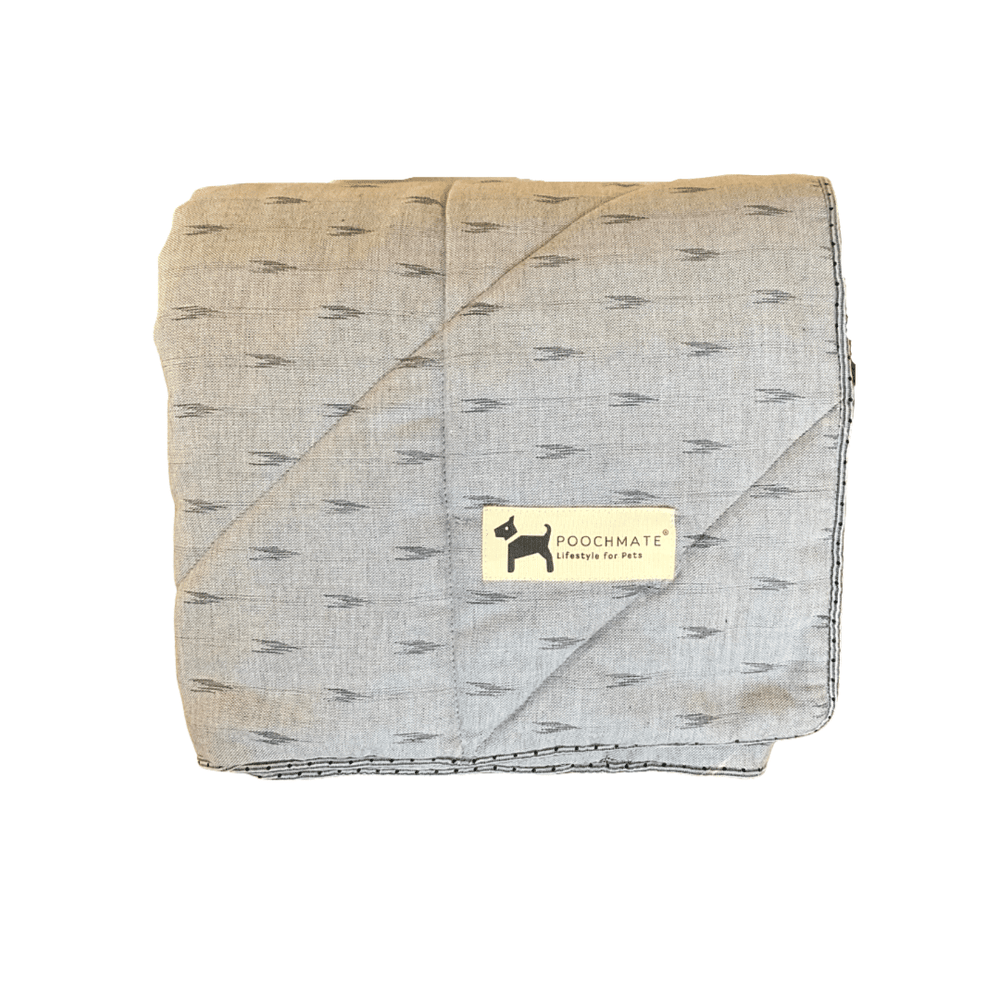 PoochMate Blanket - Ikat Steel Grey