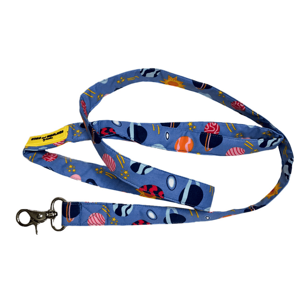 Stars and Snowflakes Cotton Leash - Planets