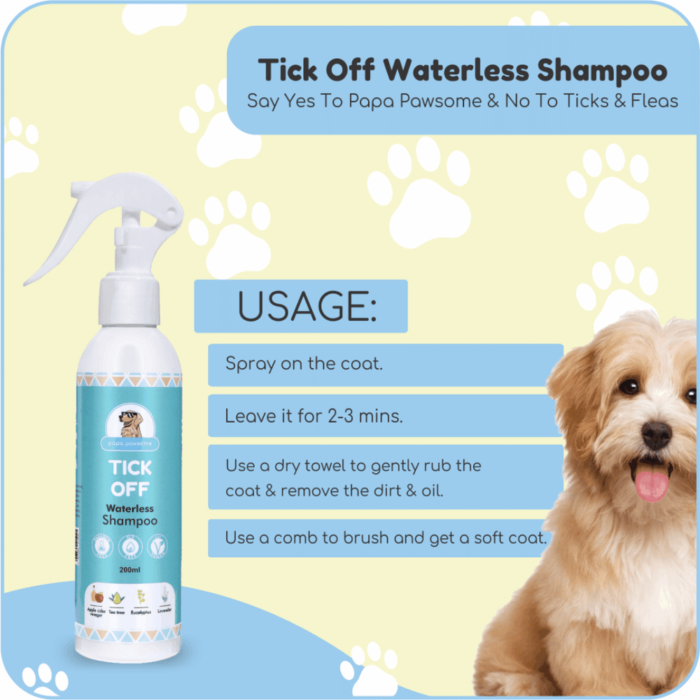 Papa Pawsome Tick Off Waterless Shampoo - 200ml