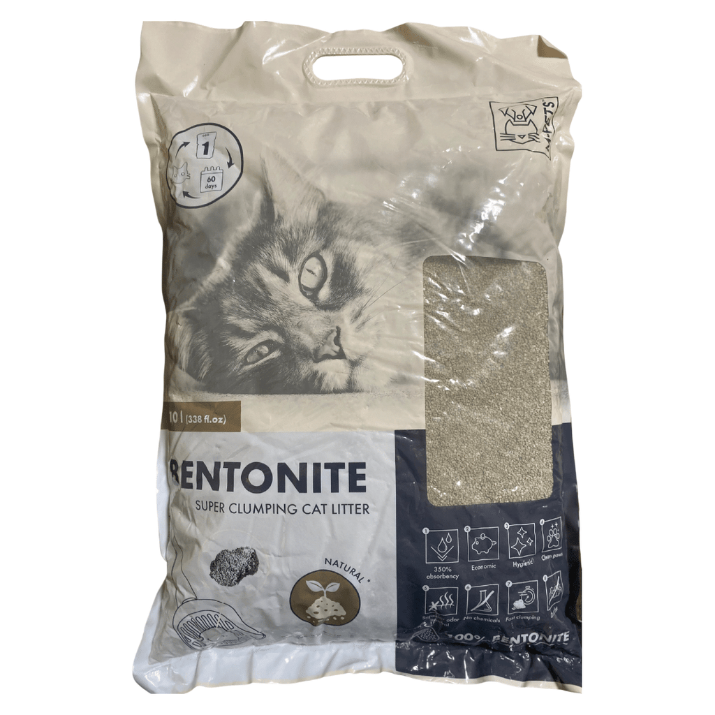 M-Pets Bentonite Super Clumping Cat Litter - 10L (8kg)