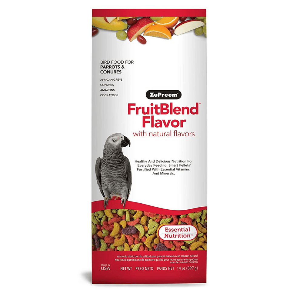 Zupreem Fruit Blend Bird Food for Parrots & Conures