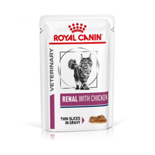 Royal Canin Vet Diet - Wet Cat Food - Renal with Chicken (Pack of 12 pouches)