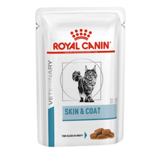 Royal Canin Vet Diet - Wet Cat Food - Skin & Coat (Pack of 12 pouches x 100g)