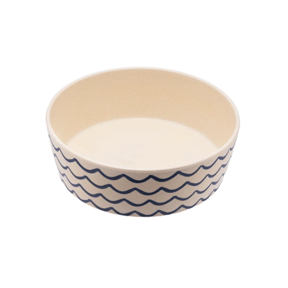 Becopets Classic Bamboo Bowl - Ocean Waves