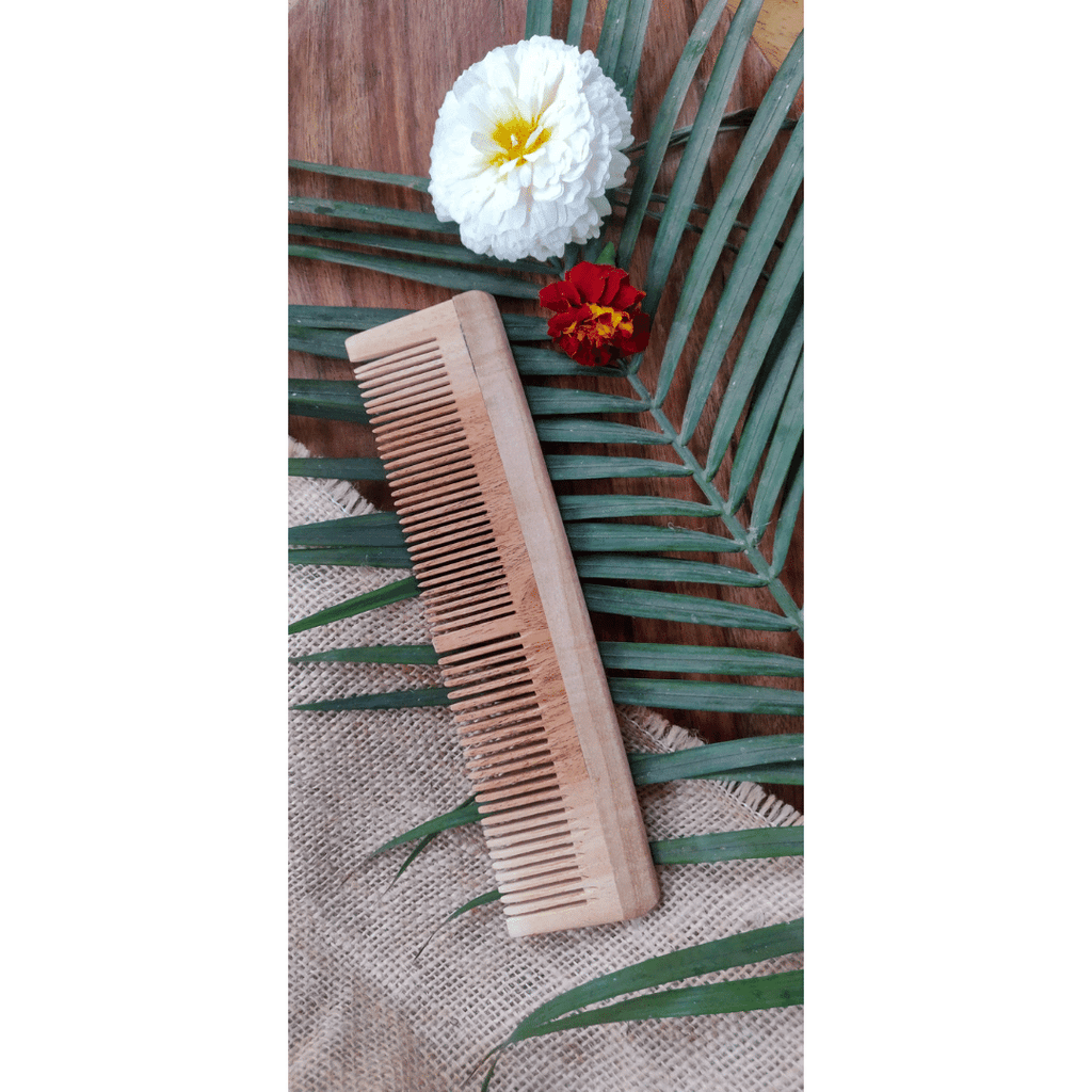 Happy Puppy Organics - Organic Dematting Neem Wood Dual Teeth Comb