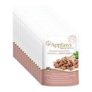 Applaws Adult Wet Cat Food - Tender Tuna With Salmon In Jelly (70g x 16 Pouches)