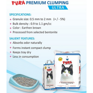 Pura Premium Clumping Ultra Cat Litter
