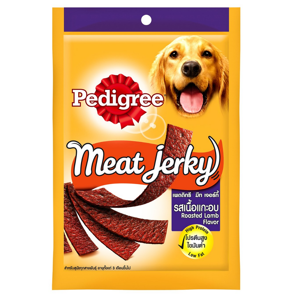 Pedigree Meat Jerky Dog Treats - Roasted Lamb - 80g