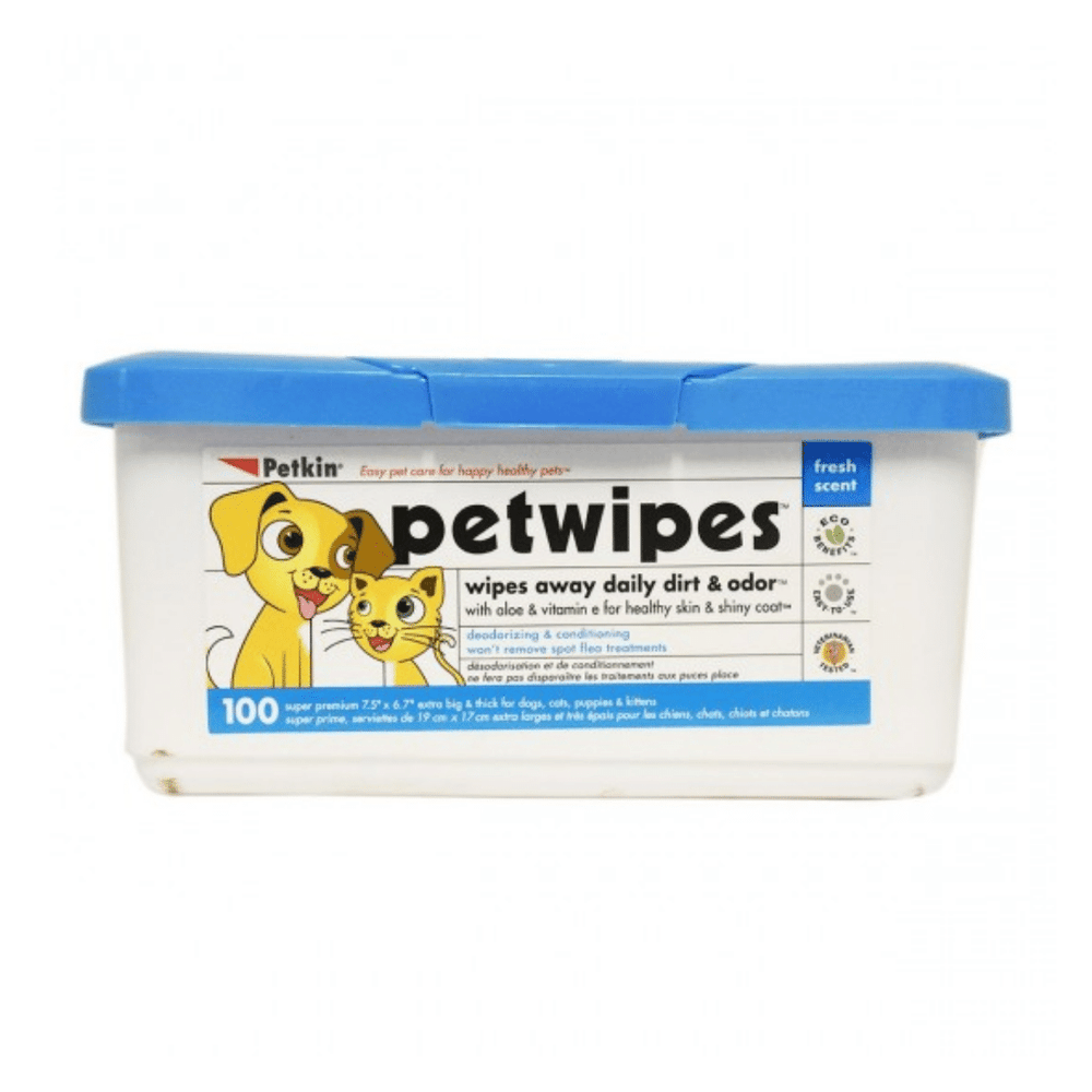 Petkin Petwipes - 100 Wipes