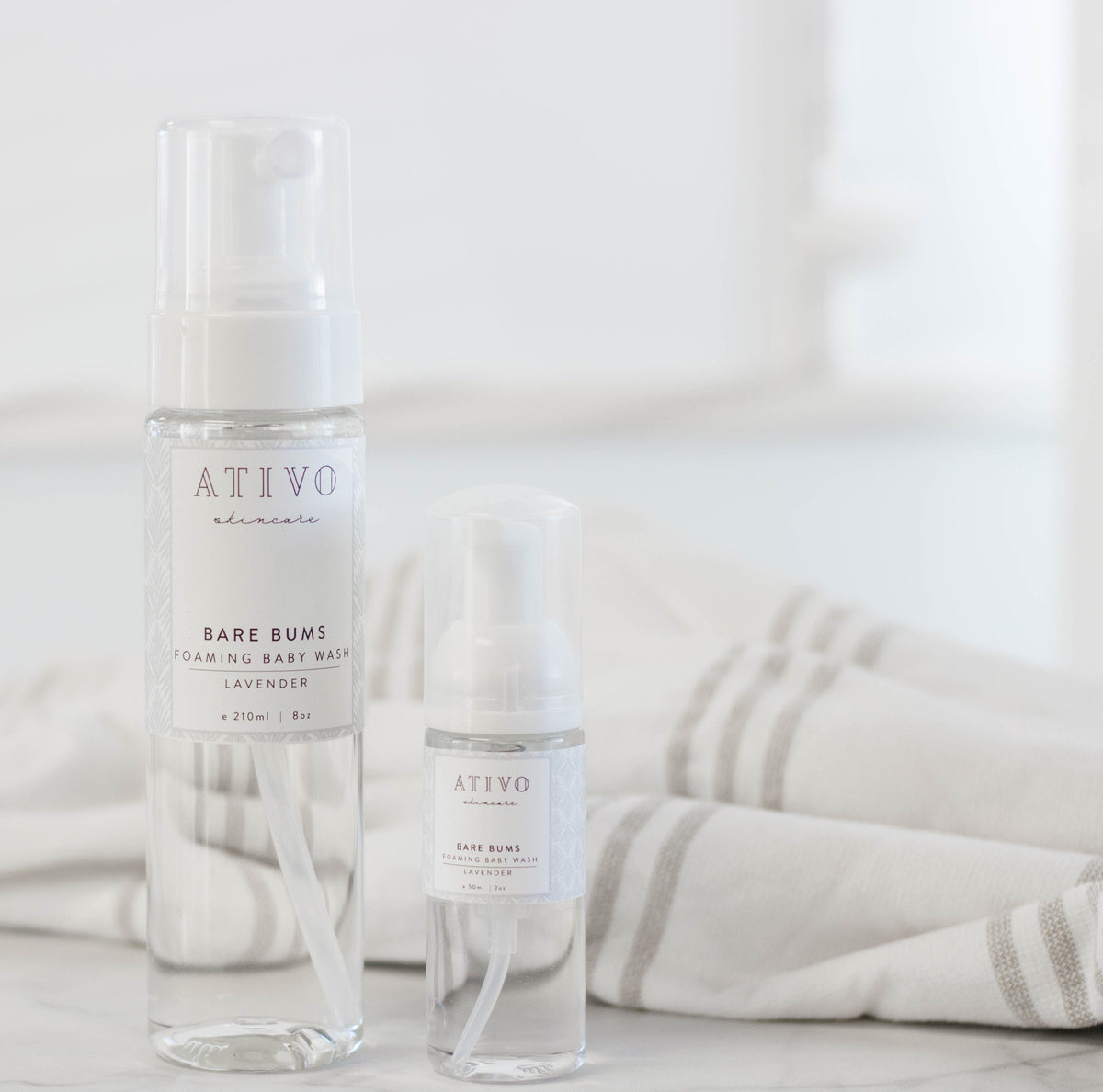 Bare Bums Foaming Baby Wash - Ativo Skincare