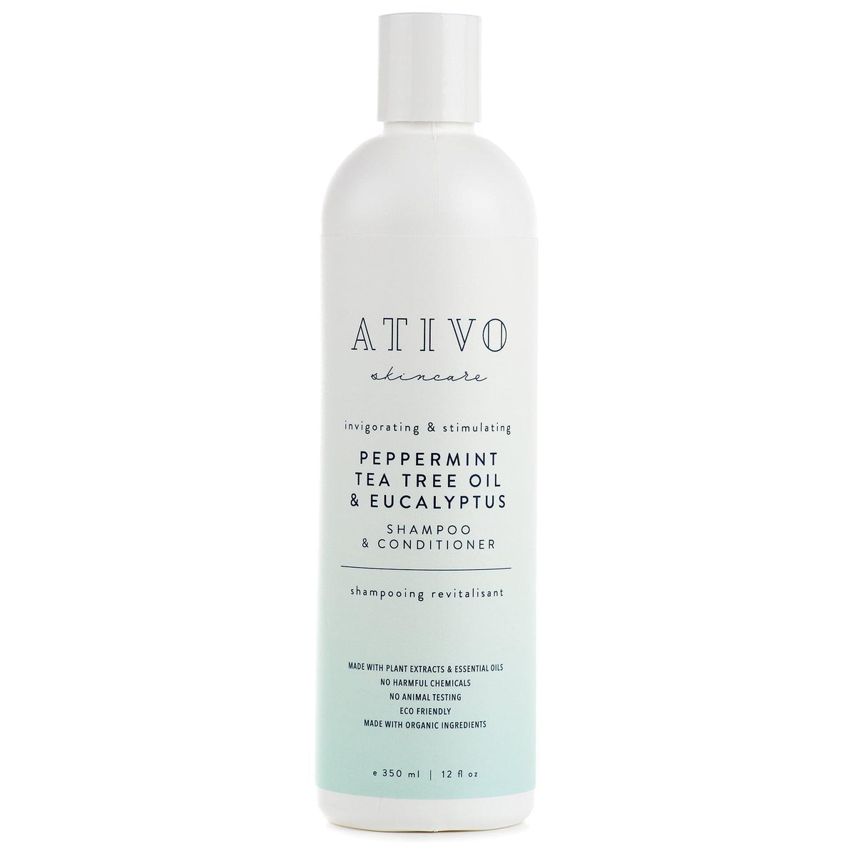 Peppermint Tea Tree Oil & Eucalyptus Shampoo / Conditioner - Ativo Skincare