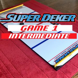 The SuperDeker Advanced Hockey Puck Handling board is the ideal practice device for intermediate hockey players to improve stick handling!