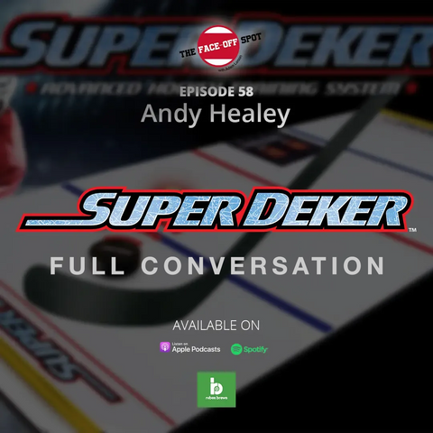SuperDeker Advanced Hockey Stickhandling Training Device featured on the Face-off Spot Podcast with Andy Healey and Adam Larson!