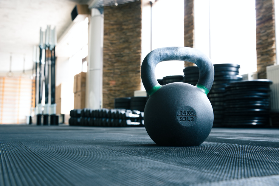 This rack of dumbbells are the perfect alternative to use if you don't have a barbell for your hockey conditioning workout.