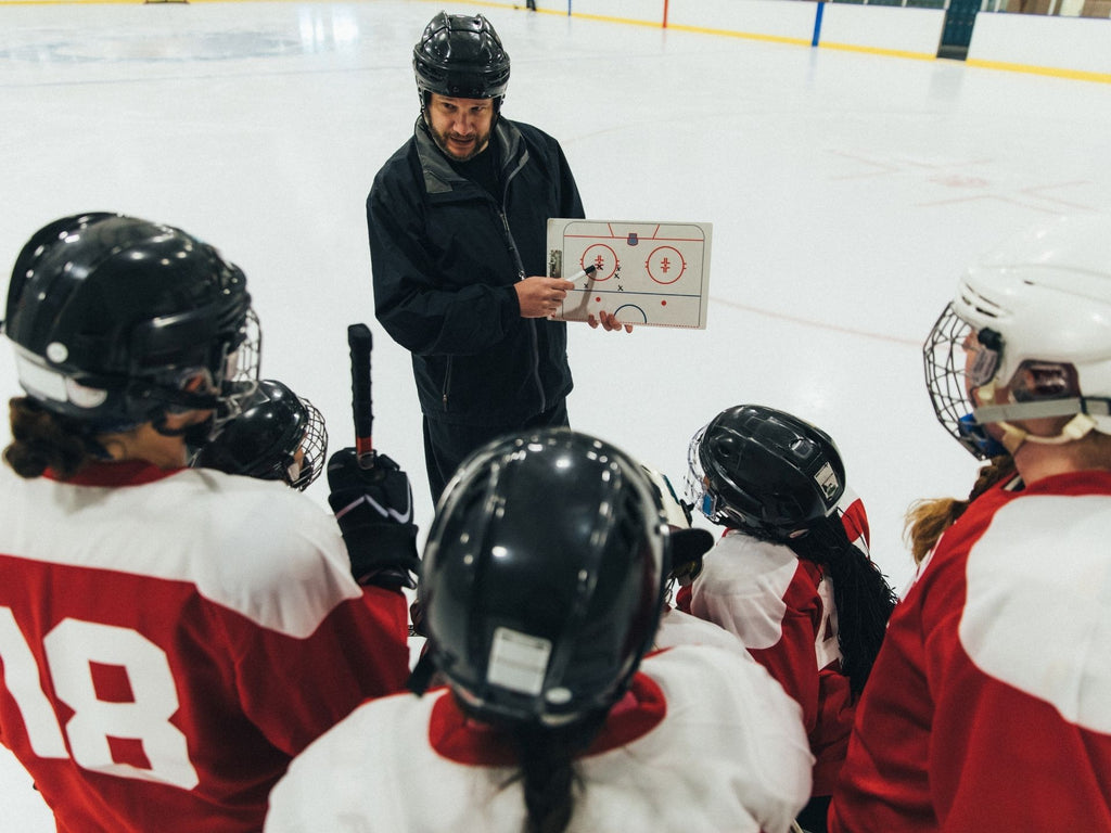 Making a plan with your teammates is a great time to discuss how to practice stickhandling off ice with the SuperDeker!