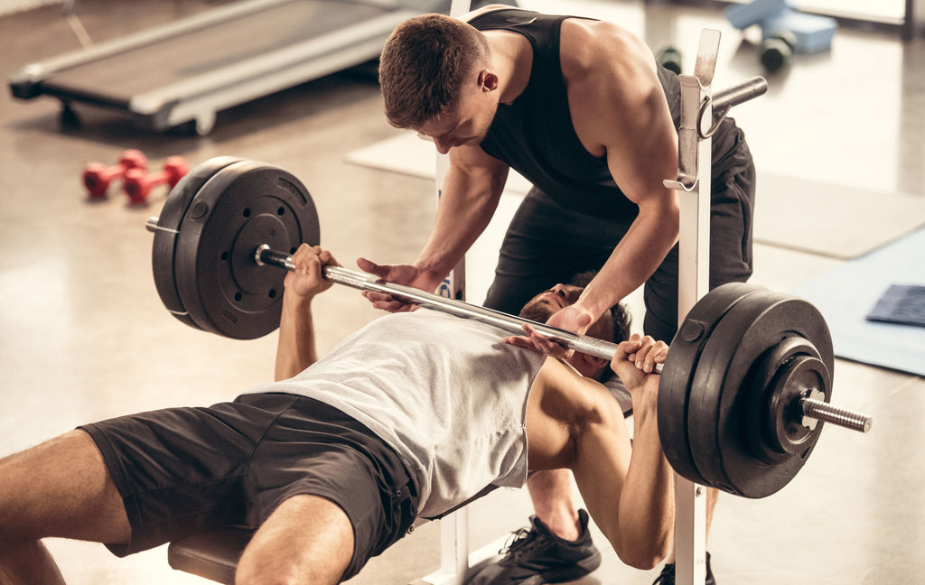 The Bench Press is a great off ice conditioning for hockey players exercise for improved strength on the ice.