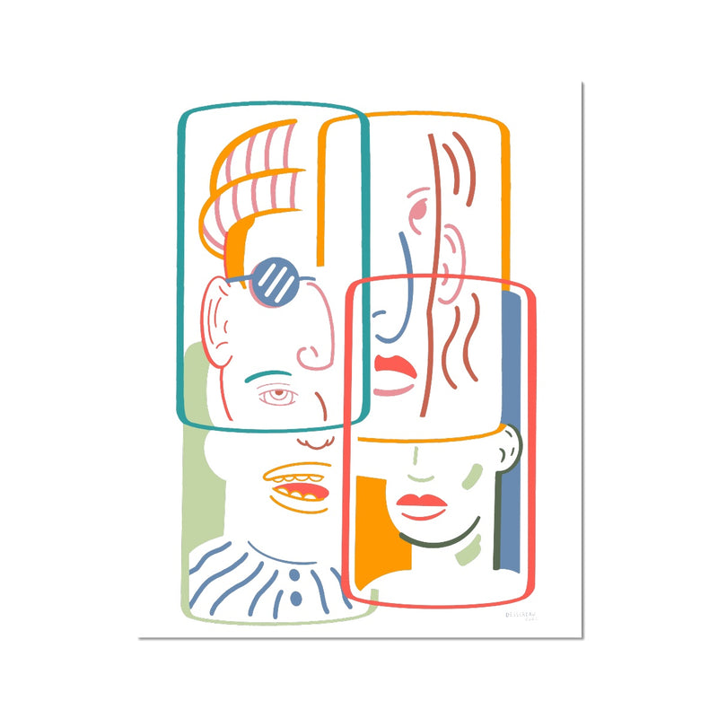 FACES AND PLACES - PRINT