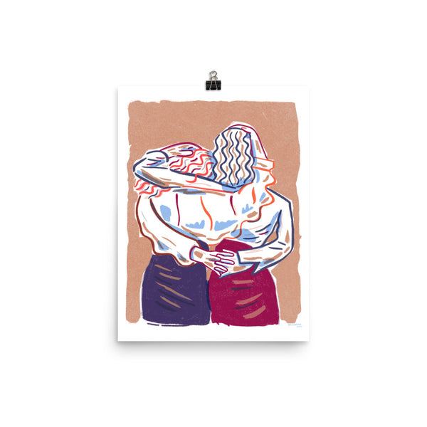 Embracing Friends - Print (12x16)