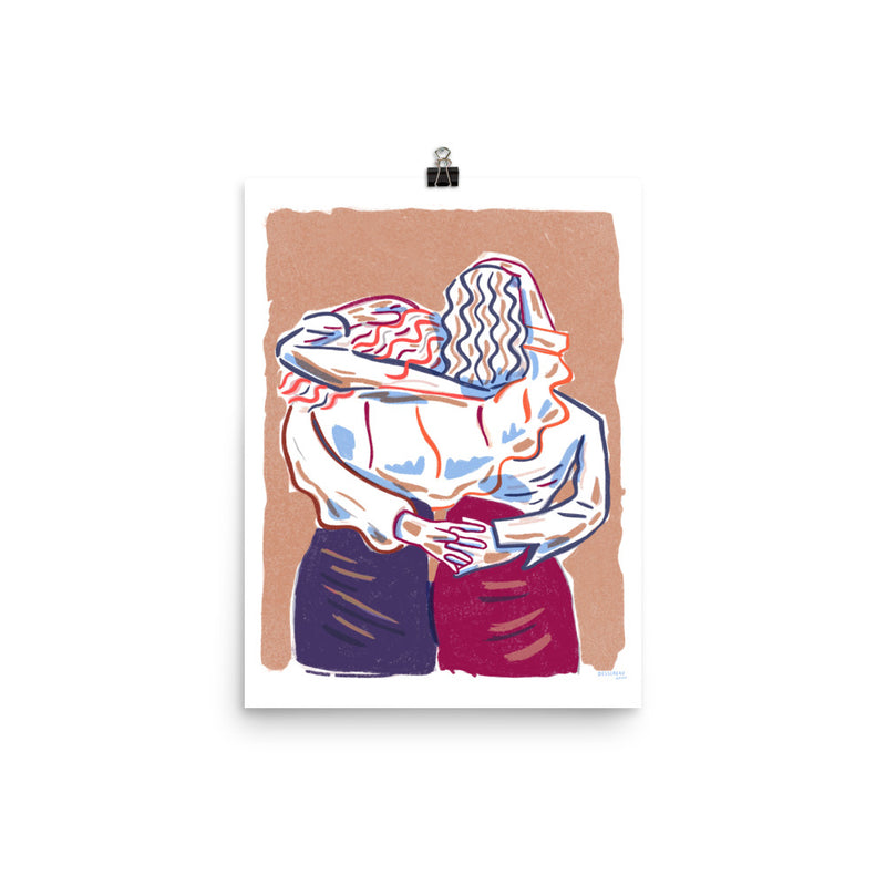 Embracing Friends - Print (12x16 Edition of 40)