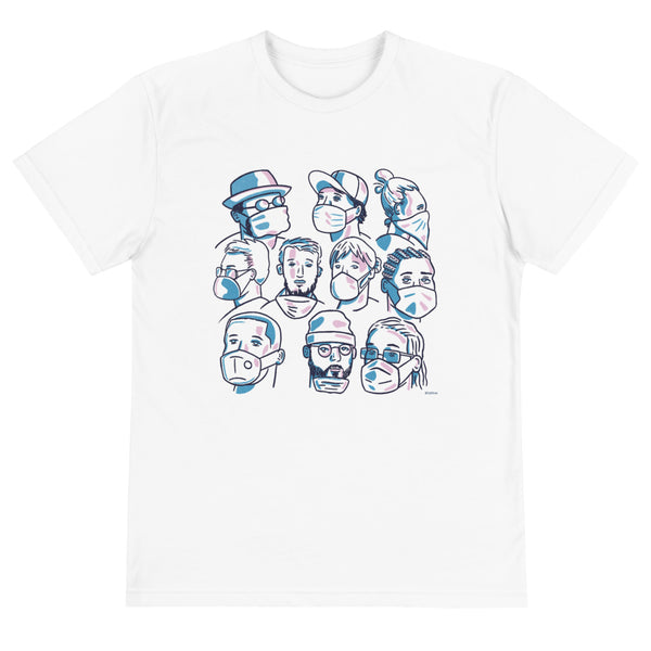 Masked Faces - Recycled T-Shirt