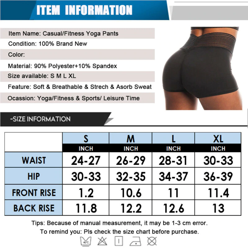 Sexy Fitness Elastic Sports Yoga Shorts - Star Boutik LLC