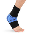 Silicone Compression Knitted Ankle Support - Unisex, fits Both Right and Left Foot - Star Boutik LLC