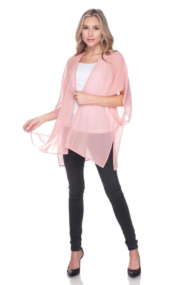 Sheer Light weighted Open Front Cardigan - Star Boutik LLC