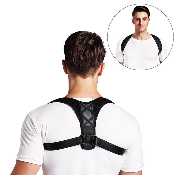 Adjustable Spine Back Shoulder Posture Corrector + Support Brace - Star Boutik LLC
