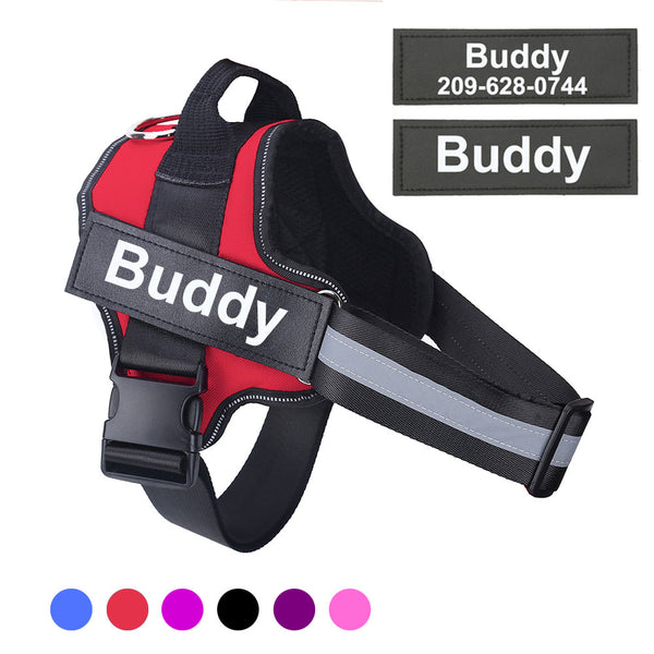 Custom Patch Reflective Harness for Dogs - Star Boutik LLC