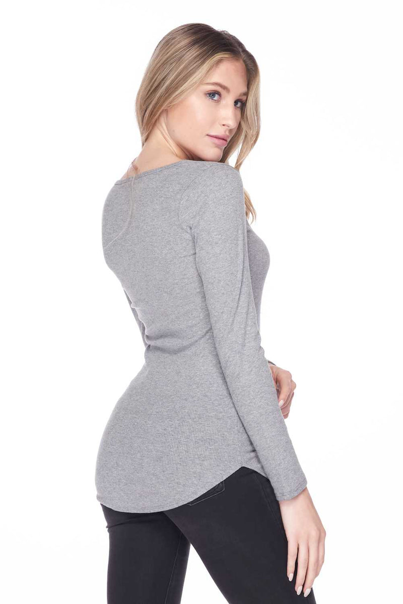 Sexy Long Sleeve Knit Wide Round Neckline Top - Star Boutik LLC