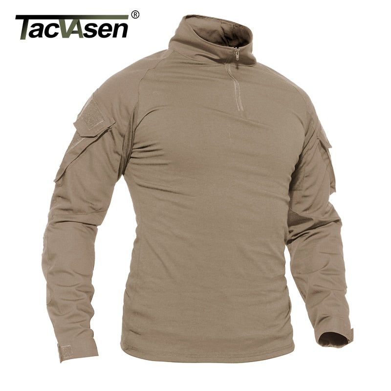 TACVASEN Army Tactical Long Sleeve Shirt - Hunt Paintball Clothing - Star Boutik LLC