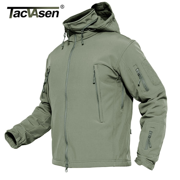 TACVASEN Tactical Waterproof Military Soft Shell Fleece Jacket - Airsoft Clothing Windbreaker - Star Boutik LLC