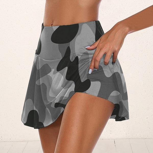 Anti-chafing Short-Skirt Workout Yoga Shorts With Hidden Pocket - Star Boutik LLC