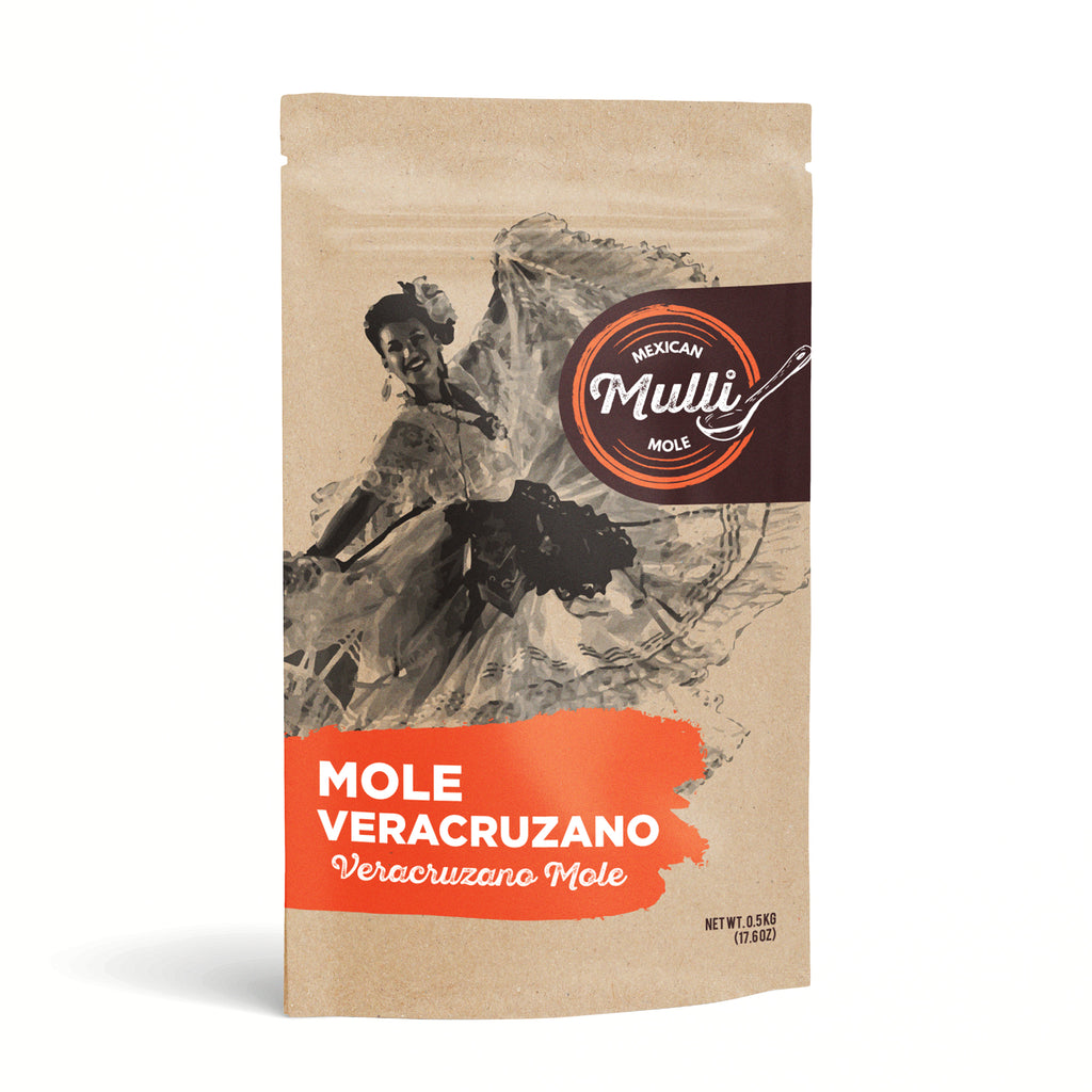 Mole Veracruzano Imported From Veracruz- Vercruzano Mole Paste by Mulli Mole - 500g (17.6 oz)