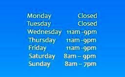 Hours We're Open
