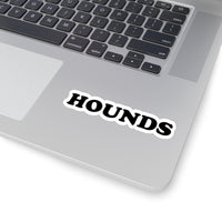 Black HOUNDS Logo Sticker