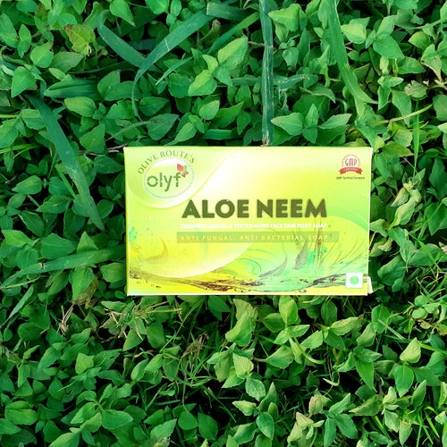 Olyf Aloe Neem Soap, 75gm - Olyf By Olive Route | Buy Natural, Vegan, Traditional Indian Products