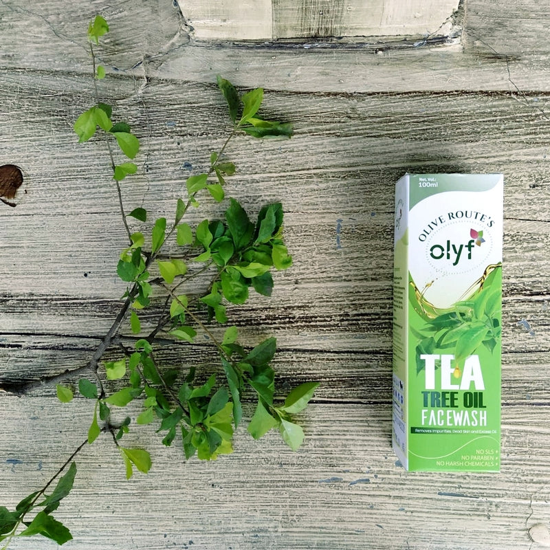 Olyf Face wash - Tea tree, 100ml - Olyf By Olive Route | Buy Natural, Vegan, Traditional Indian Products